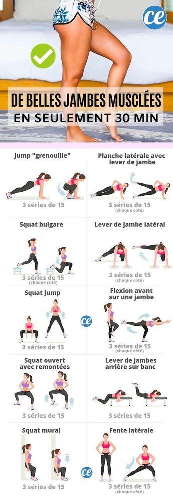 De Belles Jambes Fines Et Musclées En Seulement 30 Min (Sans Équipement).