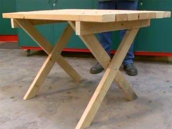 Cómo hacer una mesa de jardín