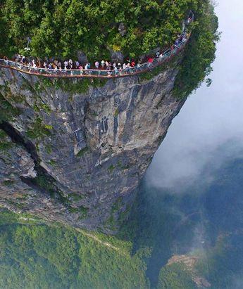 Montaña Tianmen China #ecocosas #naturaleza