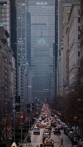 Park Avenue Looking South, NYC by New-York-Obsession