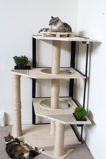 New collection of Cat Trees ⋆ Catastrophic Creations #catsdiyideas