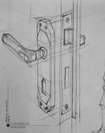 Дверная ручка. Рисунок