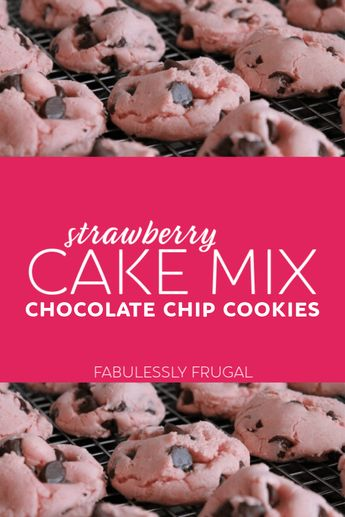 Valentine's Day Pink Strawberry Chocolate Chip Cookies