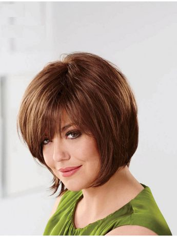 10 Inches Capless Auburn Chin Length Synthetic Womens Bob Wigs