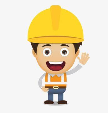 Trabajador De La Construcción, Trabajador De La Construcción, Cartoon, Personaje Archivo PNG y PSD para descargar gratis