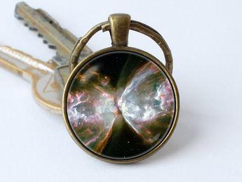 Nebula Butterfly keychain Galaxy jewelry Nebula key ring Space gift Cosmos keyring Galaxy pendant Ne