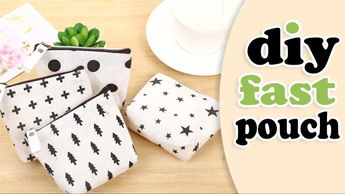 DIY POUCH BAG // Zipper Mini Wallet Purse Tutorial - YouTube