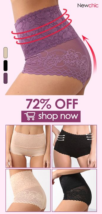 Sexy Hip Lifting Lace Breathable High Waisted Seamless Panties