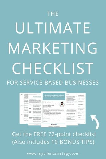 The Ultimate Marketing Checklist for Service Based Businesses