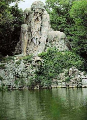 Standing nearly 4 stories tall, the massive Apennine Colossus in Florence, Italy was constructed over 420 years ago