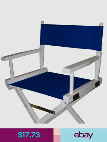 director chair replacement covers ebay office back cushion polywood white royal blue sling coastal patio folding casual 100 cotton canvas cover for seat heavy duty