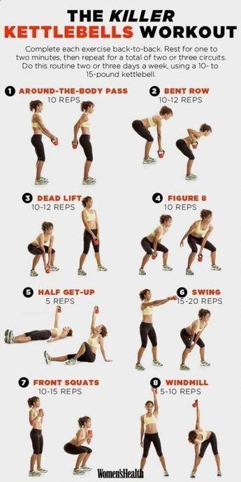 Yoga Workout - Un guide pour les débutants de l'exercice Kettlebell pour perdre du poids ... #debutants #exercice #guide #kettlebell #perdre #poids #workout