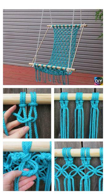 DIY Hanging Macrame Chair Tutorials