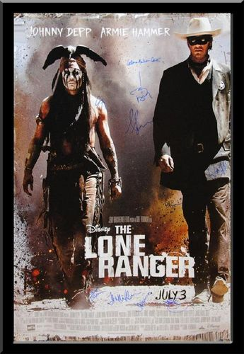 The Lone Ranger - Signed Movie Poster