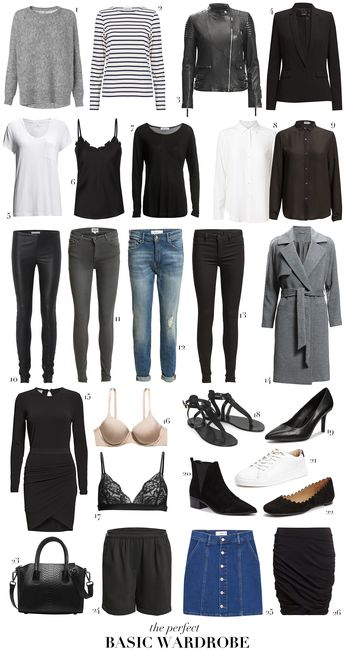 The perfect basic wardrobe (Colorful Top Fashion)