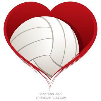 Volleyball Heart Design