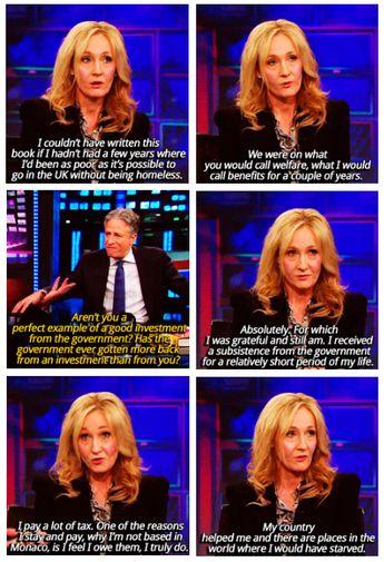 J.K. Rowling on Jon Stewart imgfave