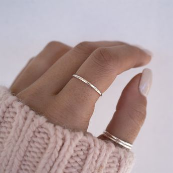 Band Ring | Pure Sterling Silver | Jane #sterlingsilver