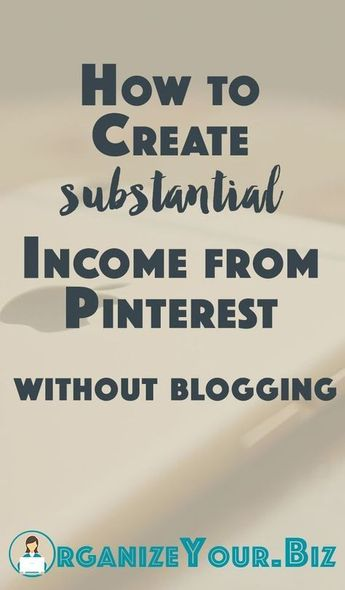 Find out how you can still earn money on pinterest even without a blog. #affiliate