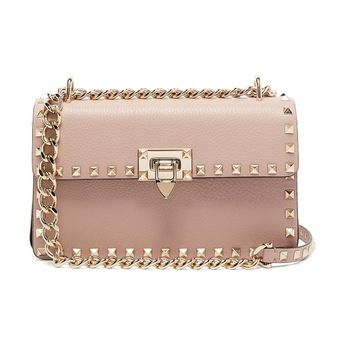 a28b195ed404 Rockstud small leather shoulder bag by Valentino  valentino  bags