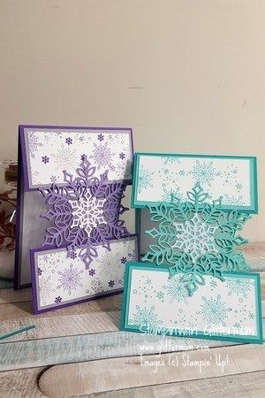 A floating card and Snowflake showcase - Stampin' with Glittermum