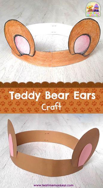 Teddy Bear Ears Craft