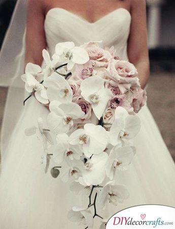 Pure White Orchids - Unique Bridal Bouquet Idea