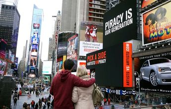 Ghost Beach Band Debates Piracy on Times Square Billboard - NYTimes.com