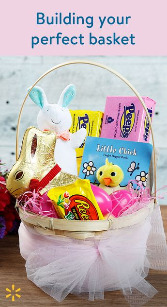 Build a farm-themed Easter basket full of delightful sweets, treats, toys & more.