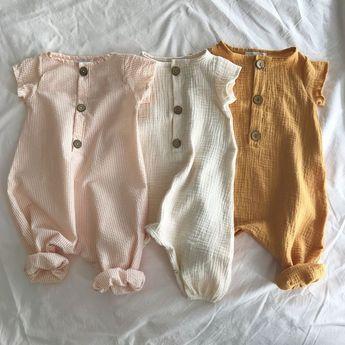 Cotton Seersucker Harem Jumpsuit - Apricot Stripe