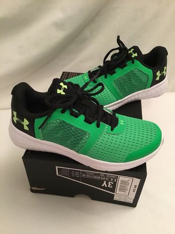 buy popular d5214 2ac8c Details about NEW  58 UNDER ARMOUR Boys Micro G Fuel RN Running Shoes Black  Lime