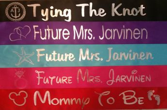 future mrs bridal shower sash personalized bachelorette hen or engagement party celebration ribbon with custom