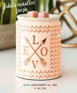 LOVE SWEPT SCENTSY WARMER