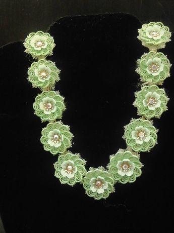 a989b477619ef Vintage Large Green and Clear Rhinestone Brooch Fabulous vi