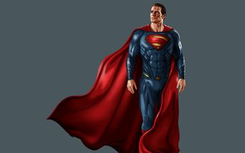 Download wallpapers Superman, 3d art, superheroes, DC Comics
