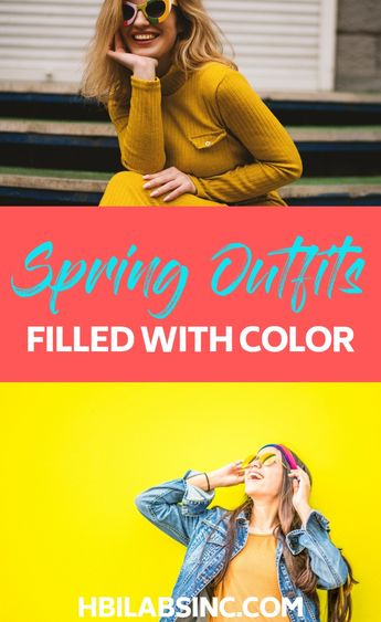 25 Spring Outfits Full of Fun Color
