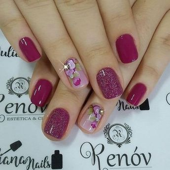 "nails - Marwa's BEAUTY ROoM on Instagram ""Nail Polish 💅 fashion marwabahaaeldin princessmarwabahaa marwasbeautyroom outfit manicure nails nail nailart floral flowers…"""