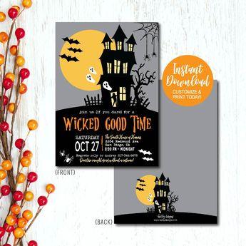 halloween invitation halloween party invitation hallowee