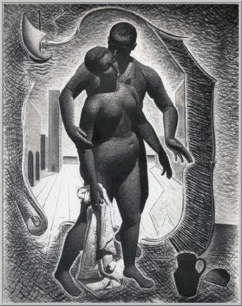 La Paix Retrouvée  Mario Tozzi 1930: La Paix Retrouvée. Olio su Tela cm.146,5x114 - Grenoble, Musée de Peinture et de Sculpture (donazione: E.Sarmiento) - Archivio n.969 - Catalogo Generale n.30/7.