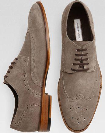 3f932d09dd48 Joseph Abboud Wellington Gray Suede Wingtip Lace-Up Shoes - Customer  Favorite Shoes