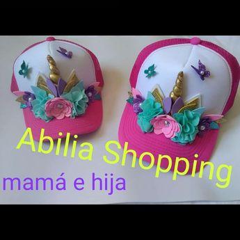 Gorras personalizadas Mamá e hija Unicornio Abilia Shopping Whatsapp  3132196957 c65783a5a16