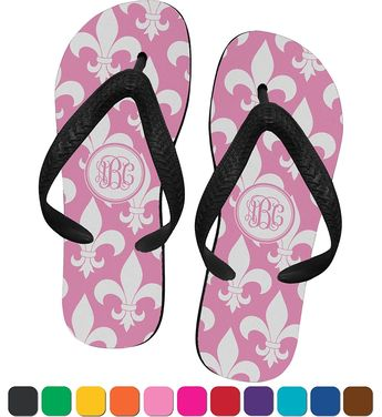 b7a1b919d06ff Fleur De Lis Flip Flops     To view further for this item