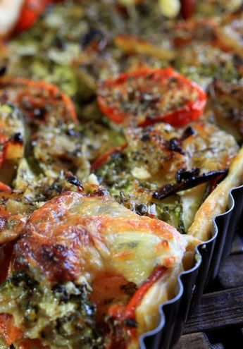 Zucchini Pie Tomato Onion Mustard  Shachu & # 39; s Kitchen