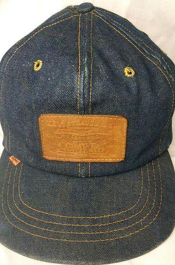$600.00 or best offer RARE Levis Denim Hat Cap Levi Strauss Leather Patch Orange Tab Vtg Truck Hat  #Levis #TruckerHat #hats