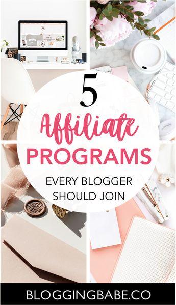 The Best Affiliate Programs To Make Money Blogging | Blogging Babe