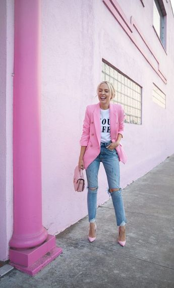 41 Combinations Of Stylish Pink Outfits For Women