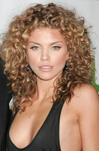 A long brown curly wavy spiral perm hairstyle by Web Collections. Description…