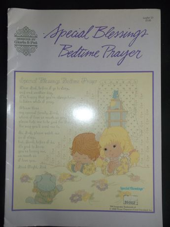 Special Blessings Bedtime Prayer Crossstitch Book Booklet leaflet 23 Handmade Nursery Decor Boy Girl Gift Idea 1988 Christian Pattern by ZanesToysAndTreasure on Etsy use FATHERDAYP to receive 40% off storewide