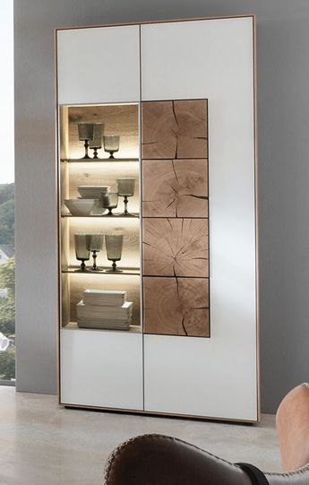 Tolle Sideboard Weiss Hochglanz Mit Holz