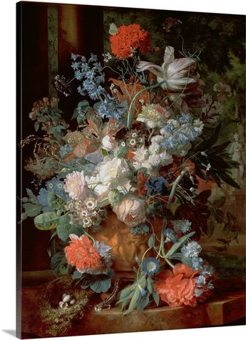 Bouquet of Flowers in a Landscape Wall Art, Canvas Prints, Framed Prints, Wall Peels   Great Big Canvas